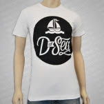 D at Sea Boat Logo White T-Shirt