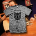 Dave Hause Owl Athletic Grey T-Shirt