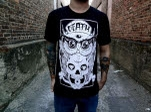 Dead End Threads Death Owl Black T-Shirt