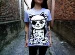 Dead End Threads Sailor Kitty Heather Grey T-Shirt