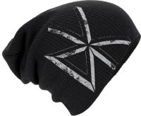 Dead Kennedys Distressed Dk Logo Slouch Knitted Beanie Hat