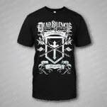 Dead Silence Hides My Cries Shield Black T-Shirt