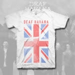 Deaf Havana Flag White T-Shirt