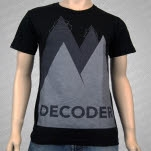 Decoder Mountains Black T-Shirt