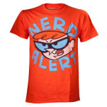 Dexters Laboratory Orange Nerd Alert T-Shirt