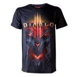 Diablo Black All Over Face T-Shirt