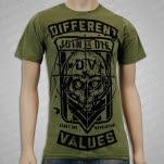 Different Values Pledge Moss T-Shirt