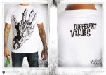 Different Values Zombie Hand White T-Shirt