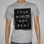 Divided By Friday Your Worlds Not Real Heather Gray T-Shirt