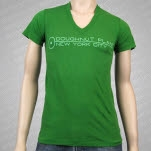Doughnut Plant Logo V Neck Green T-Shirt