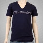 Doughnut Plant Logo V Neck Navy T-Shirt