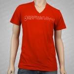 Doughnut Plant Logo V Neck Red T-Shirt