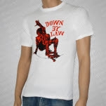 Down By Law Red Skateboarder White T-Shirt
