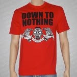 official Down To Nothing Daggers Red T-Shirt