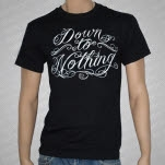 Down To Nothing Script Black T-Shirt