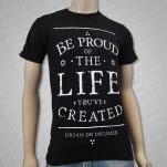 Dream On    Dreamer Be Proud Black T-Shirt
