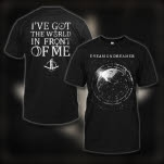 Dream On    Dreamer World In Front Of Me Black T-Shirt