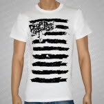 Drop Dead Gorgeous Big Stripes White T-Shirt