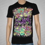 Drop Dead Gorgeous Monster Faces Black T-Shirt