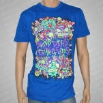 Drop Dead Gorgeous Monster Faces Blue T-Shirt