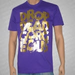 Drop Dead Gorgeous Stacker Foil Purple T-Shirt
