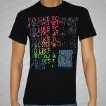 Drop Dead Gorgeous Word Black T-Shirt