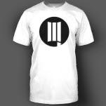 DUSTLA Black Logo on White T-Shirt