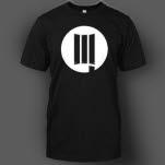 DUSTLA White Logo on Black T-Shirt