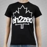 Eh2Zed Leaf Black T-Shirt