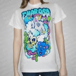 Emarosa Unicorn Starburst White T-Shirt