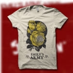 Emilys Army Rose Cream T-Shirt