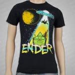 ENDER Space Ship Black T-Shirt