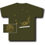 Engine Down Compass Olive Green T-Shirt