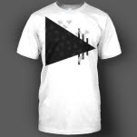 ENM Solid Triangle Logo White T-Shirt