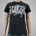 Enter Shikari Grey Lion Logo Charcoal T-Shirt