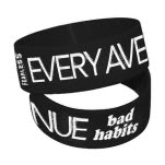 Every Avenue Bad Habits Black Wristband