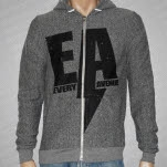 Every Avenue Bolt Heather Gray Hoodie Zip