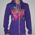 Every Avenue Fish Purple Hoodie Zip