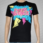 Every Avenue Lightning Bolts Black T-Shirt