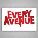 Every Avenue Red Logo White Sticker