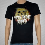 Every Bridge Burned Skull Black T-Shirt