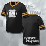 Everyone Dies In Utah Neutral Ground Logo BlackGold Stripes T-Shirt