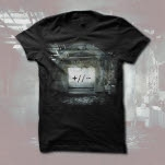 Everyone Dies In Utah Polarities Album Cover Black T-Shirt