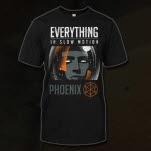 Everything In Slow Motion Astronaut Black T-Shirt