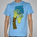 Every Time I Die Zombie Hands Light Blue T-Shirt