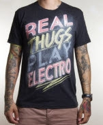 EVRY1ZADJ Real Thugs Play Electro Black T-Shirt