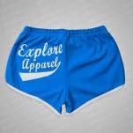 official eXPLORe Apparel Logo BlueWhite Track Shorts