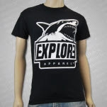 eXPLORe Apparel Shark Black T-Shirt