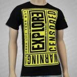 eXPLORe Apparel Warning Black T-Shirt