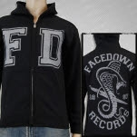 official Facedown Records FD Snake Black Hoodie Zip